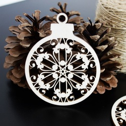 Fulgi de zapada ca ornament pentru Craciun, dimensiune: 79x90 mm