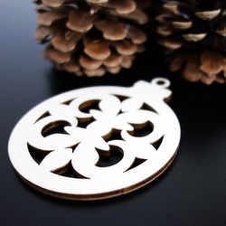 Decoratiuni de Craciun pentru bucurie din lemn, dimensiune: 79x90 mm