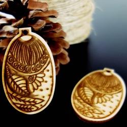 Ornamente pentru pomul de Craciun, dimensiune: 65x40 mm