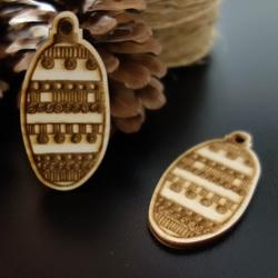 Decoratiuni din lemn pentru pomul de Craciun, dimensiune: 68x33 mm