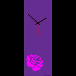 Ceas de perete trandafir (ceas modern pe perete) culoare: trandafir roz