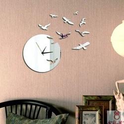 Oglinda ceasului de perete adeziv ratonii, 40x50 cm