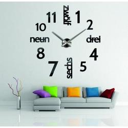 Ceas modern pe perete DIY DRYWALL