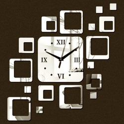 Ceas pe perete modern pătrat 50x40 cm FIGARO