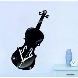Oglindă ceas de perete vioară 40x15 cm MUSIC