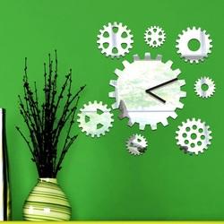 Sentop - Nástenné hodiny zrkadlové Stroj času, 30x30 cm