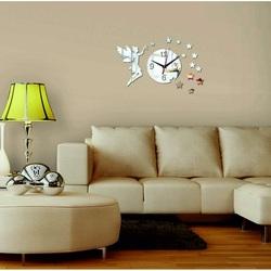 Ceas de perete în camera de zi ca o decorare, Zana, 40x40 cm