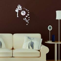 Ceas de perete în camera copiilor, Zână de dragoste, 40x70 cm