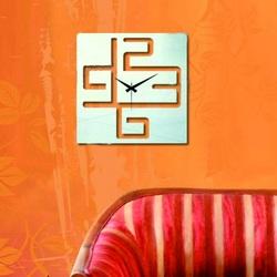 Oglinda ceasului de perete, Numere în cub, 38x38 cm