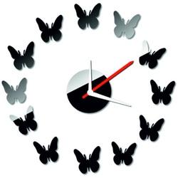 Modern ceas de perete oglindă fluture 40x40 cm CMELFREGIF