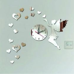 Ceas de perete în camera copiilor Inimi de zbor, 40x60 cm