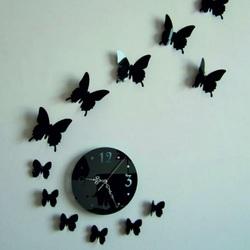 Zegar ścienny wisi motyla lustro  40 x 40 cm LUNA