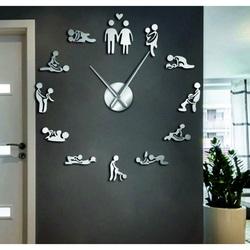Ceas de perete kamasutra oglindă DIY 3D HROBESO