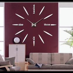 Ceas de perete mare cu autocolant 3D SIX