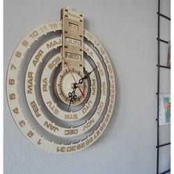 Calendarul de lemn ceas de perete calendar de lemn gravat cu laser CALENDAR