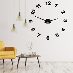 Design ceas de perete cu numere PLEXI OPTIC