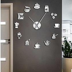 Ceas de perete oglindă obligatorie Modern ceas de cafea cafea ZRNO