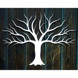 Hölzerne Dekorationsmalerei an einer Wand aus Sperrholz Herbstbaum Herbst Maße: 300 x 411 mm