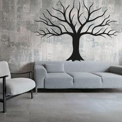 Imagine a peretelui Decorația din lemn a placajului din toamna copacului toamnei Dimensiune: 600 x822 mm