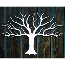 Decor mare de lemn de perete de placaj de copac toamna dimensiune: 900 x 1233 mm