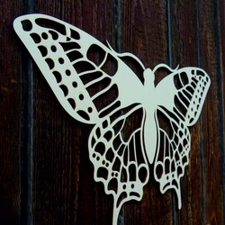XL 750 X 459 mm. Fluture de noapte sculptat din placaj LEOPARTID din lemn