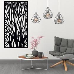 Imagine de lemn pe silueta zidului de ramuri din copac placaj Fibis