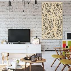 Decor de lemn pe perete din placaj din lemn Topol LOGOTECH