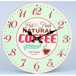 Kreatívne hodiny ranná káva  MDF . Fi 30 cm