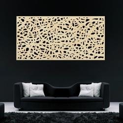 Imagine din lemn pe un perete din placaj Topol picătură
