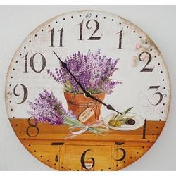 Holz Uhr Levanduľová Traum MDF. Fi 30 cm