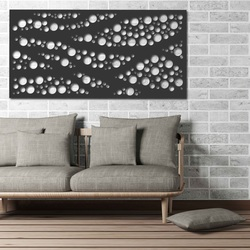 magine din lemn pe perete din placaj de lemn Topol Circle