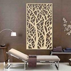 Pictura pe perete a copacului din placaj din lemn de plop lydia