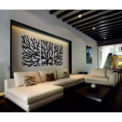 Dřevěný obraz na stěnu větve z překližky topol. Obraz se skládá ze tří částí. MAVAMF