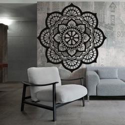 Florala de viață mandala imagine din lemn pe un perete de placaj HELLA