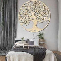 Decorare pe perete a unui copac de viață imagine din lemn de placaj FAMILIE