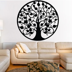 Decoration on the wall tree abundance wooden picture of plywood CONGRESS