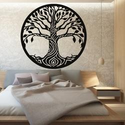 Pictură pentru pereți din lemn   copac din placaj de plop BIDHIA