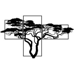 Imagine din lemn pe perete BONSAJ Imaginea este alcătuită din trei părți SKALICA