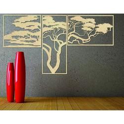 Imagine din lemn pe perete HANAA Imaginea este alcătuită din trei părți POLONGE