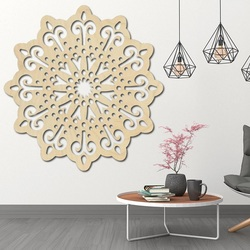 STYLESA modern painting on the wall of a flower made of plywood BELFON black
