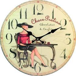 Drevené hodiny Sladké pokušenie. Material: MDF, size: 30 cm Fi