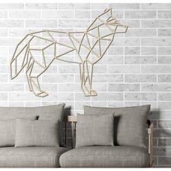 STYLESA rzeźbione obraz na ścianie   sklejka wilk PR0231 czarny
