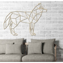 STYLES carved picture on the wall   plywood wolf PR0231 black