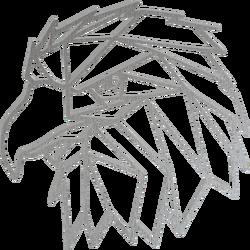 STYLESA Imagine sculptată   pe perete forme geometrice vultur PR0234 negru