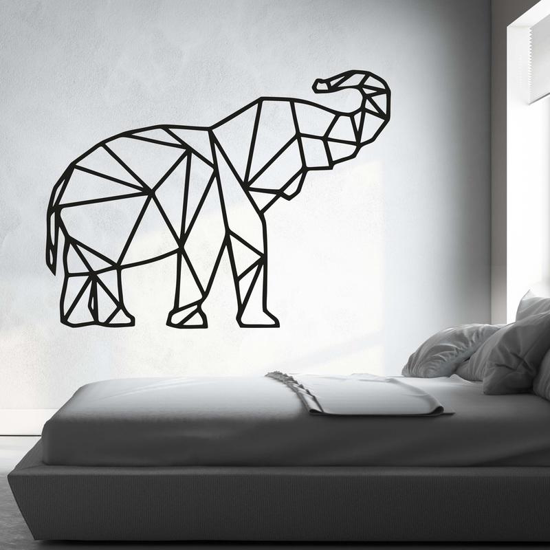 XMOM cioplit imagine pe perete forme geometrice elefantul PR0236 negru