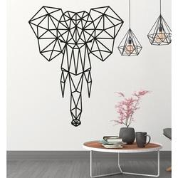 STYLESA Imagine din lemn pe elefant placaj PR0238 negru