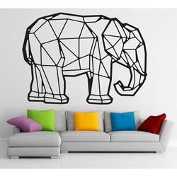 STYLESA Wooden image on plywood elephant PR0239 black