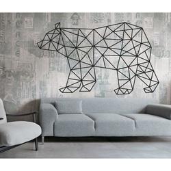 SENTOP Vyřezávaný obraz na stěnu medvěd PR0240 černý