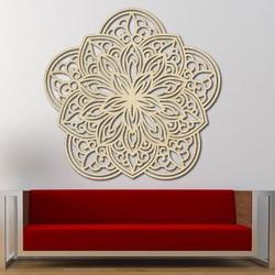Floare sculptate mandala imagine din lemn pe perete de placaj