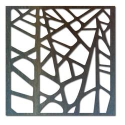 Imagine din lemn sculptat pe un perete din placaj ornament